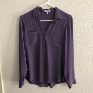 Purple button up